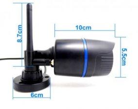 2.0 мегапиксельная беспроводная IP-камера, снимающая в HD качестве, с разрешением 1080p. Водонепроницаемая беспроводная цилиндрическая ИК мини камера, CCTV камера, стандарта onvif Р2Р