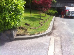 Curb remove and replace at West Vancouver