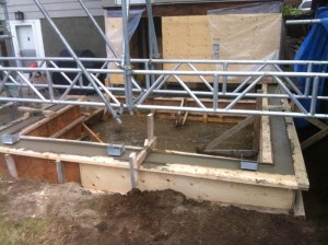 Foundation install in Vancouver