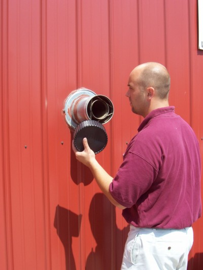 pellet stove exhaust motor vent cleaning