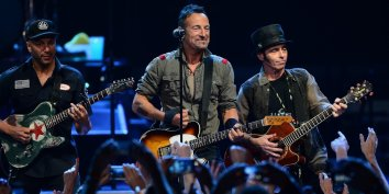 Bruce Springsteen, center, and members of the E Street Band perform at Time Warner Cable Arena in Charlotte, N.C., on Saturday, April 19, 2014. (Jeff Siner/Charlotte Observer/MCT via Getty Images)