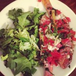 Red mullet by Antonio and green salad by Pello :)