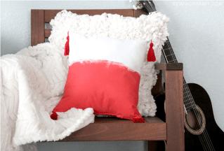 Bohemian Tassel Pillow - The Sewing Rabbit