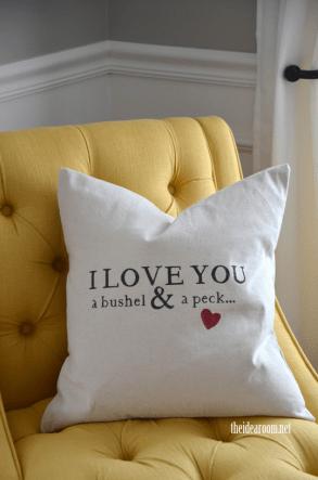 Bushel and a Peck Pillow - The Idea Room
