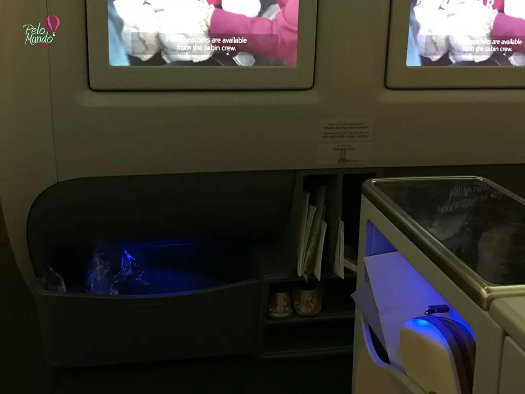Poltrona Qatar Airlines