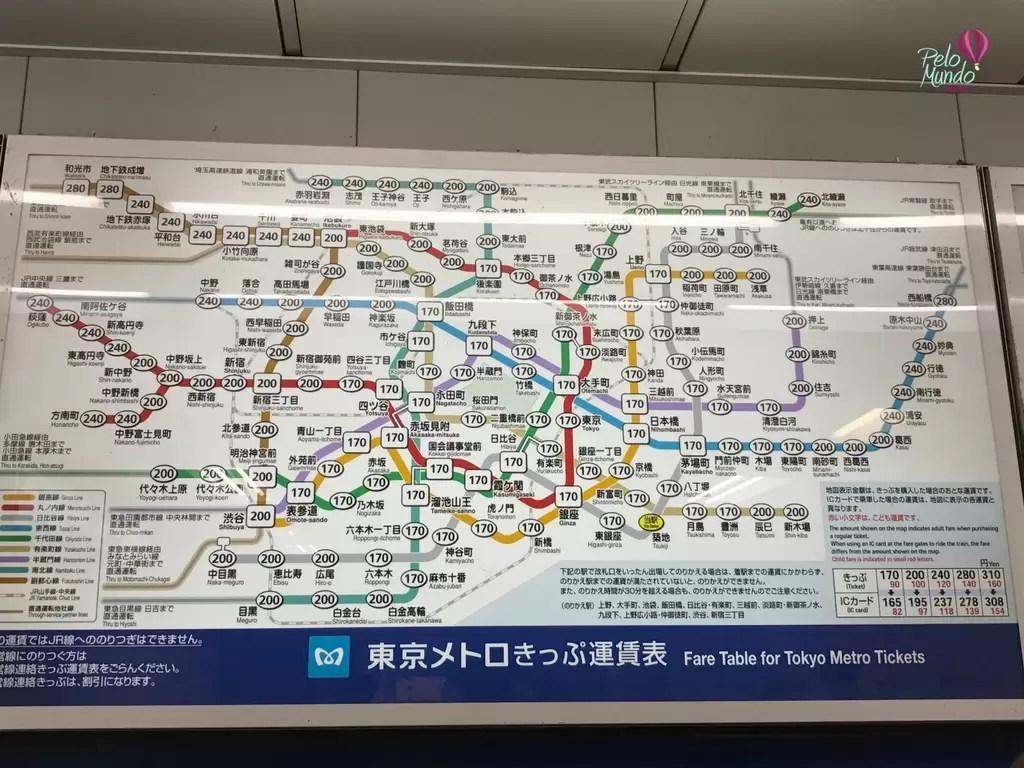 mapa metro Tóquio