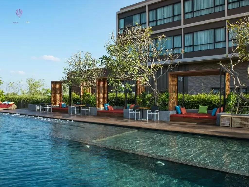 North Hill Resort em Chiang Mai - vista da piscina