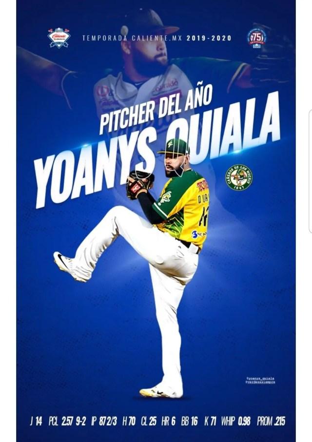 Yoanys Quiala después nombrado lanzador del año
