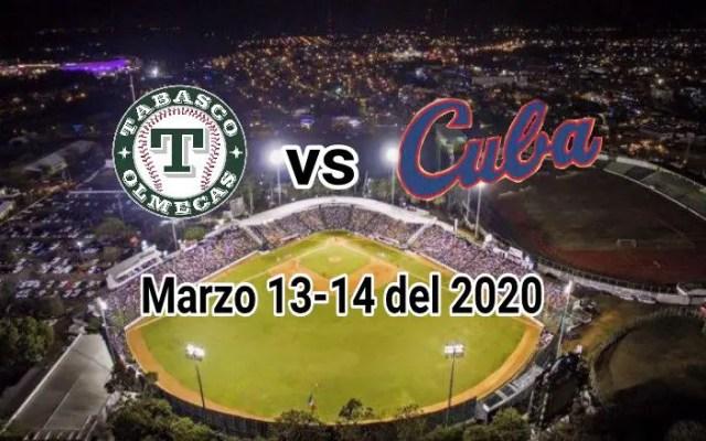 Tabasco topará con la selección cubana antes del preolímpico