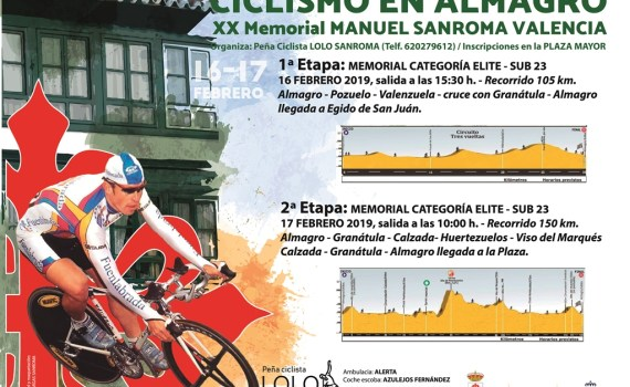 cartel XX Memorial ciclista LOLO SANROMA