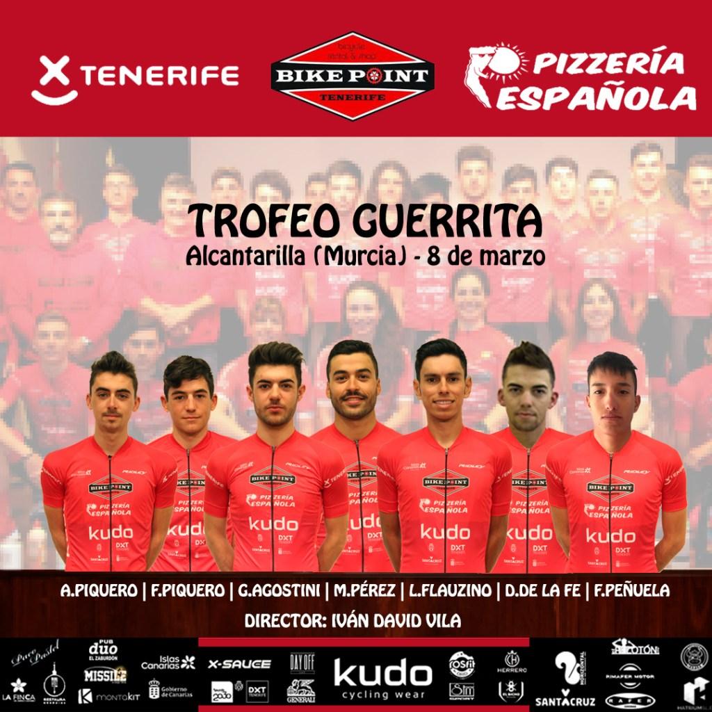 Trofeo Guerrita alineación Tenerife BikePoint Pizzería Española