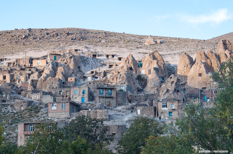 Cases en coves a l'aldea de Kandovan