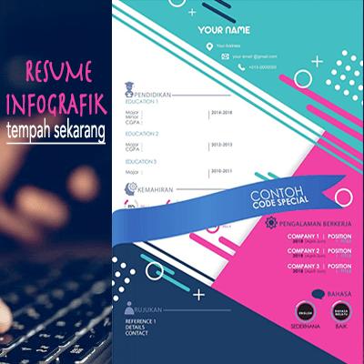 resume infografik