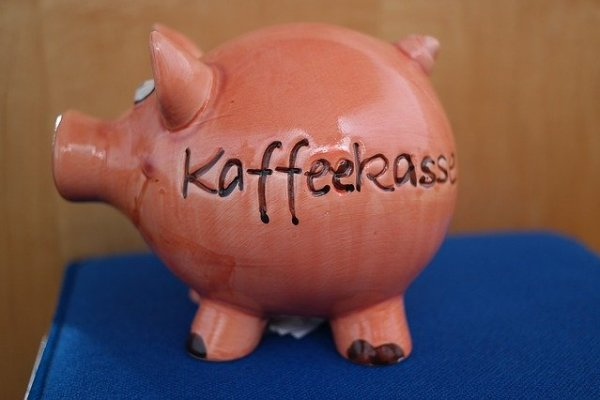 Schwein Kaffeekasse