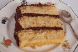 Tarta de naranja y chocolate (corte)