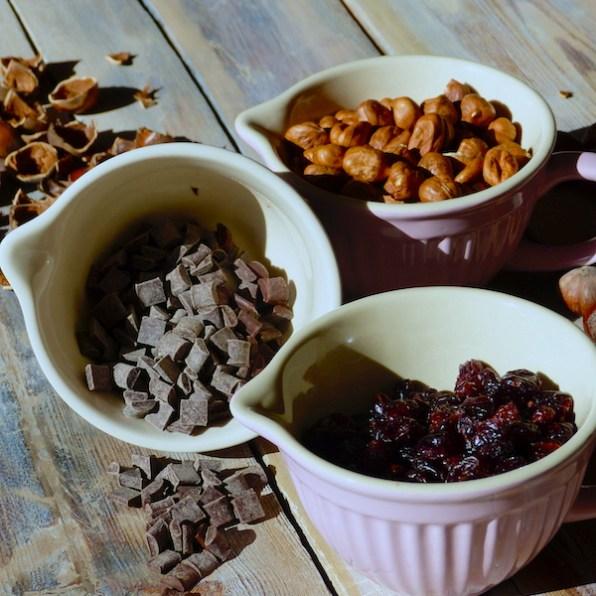 Cranberry Hazelnut Chocolate Chunk Cookies