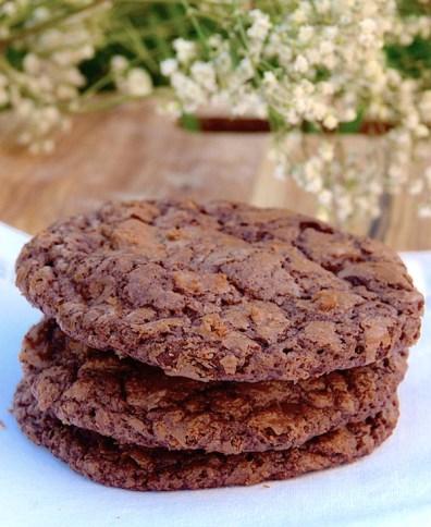 Double Chocolate Crackled Cookies {Galletas de Chocolate}