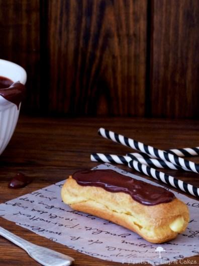 Chocolate glazed éclairs