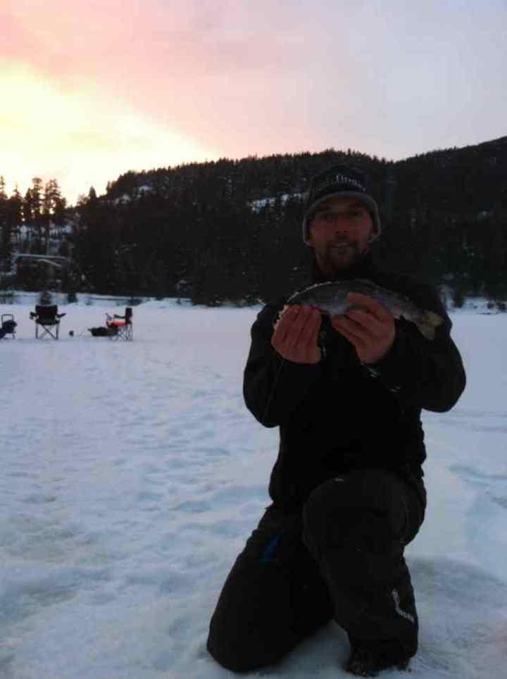 Ice Fishing Nita Lake in Whistler