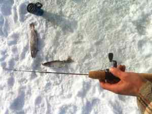 Lost Lake Whistler  Ice Fishing
