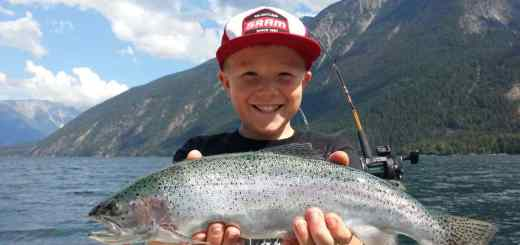 Kids fishing in Whistler BC