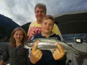 Families fishing in Whistler
