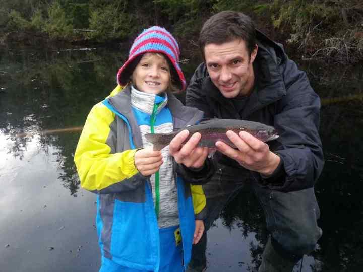 Ice fishing with kids