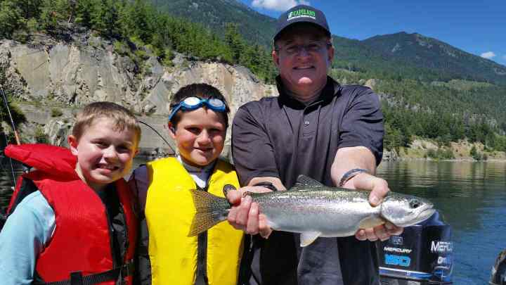 Beautiful Rainbow trout catch and release