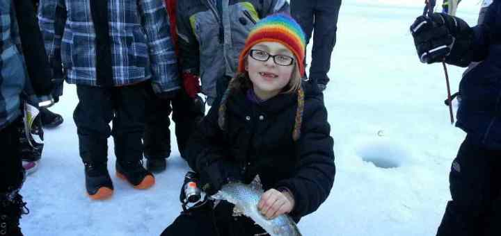 First Place Kids Ice Fishing Derby