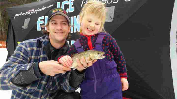 Kids Ice fishing derby