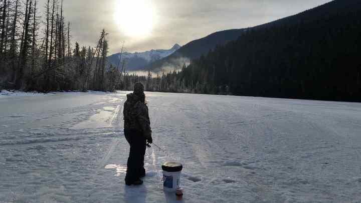 Ice fishing in Pemberton BC