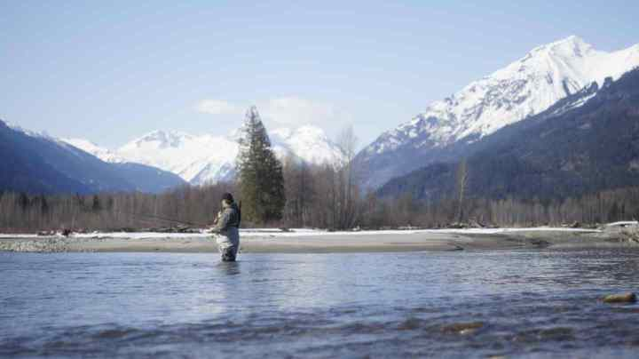 Fly fishing in Pemberton BC Canada