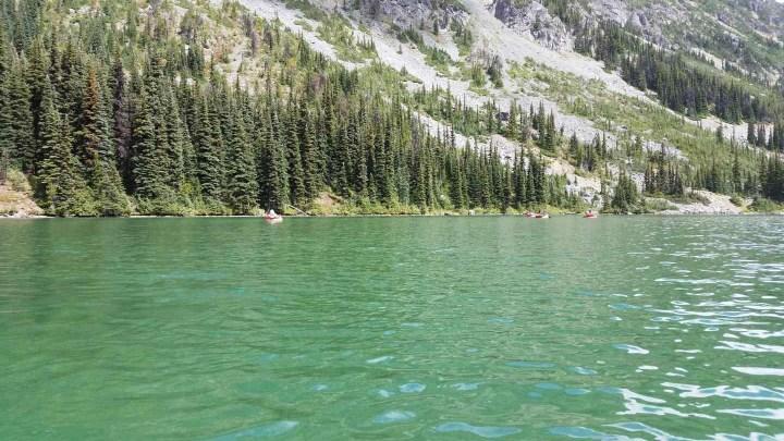 Heli fishing in a remote alpine lake in British Columbia Canada