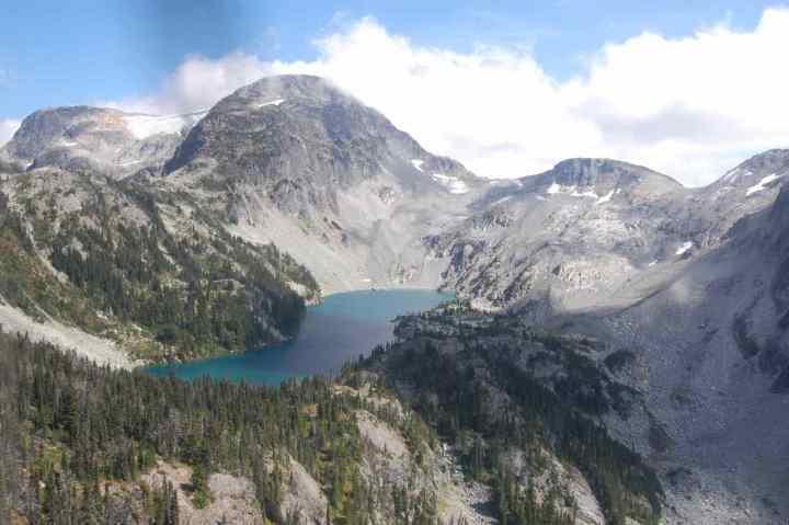 Remote lake in British Columbia Canada