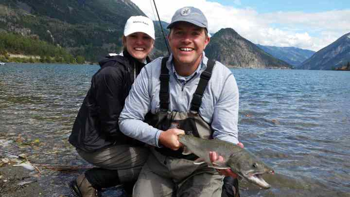 Fly fishing for Trout in Whistler BC