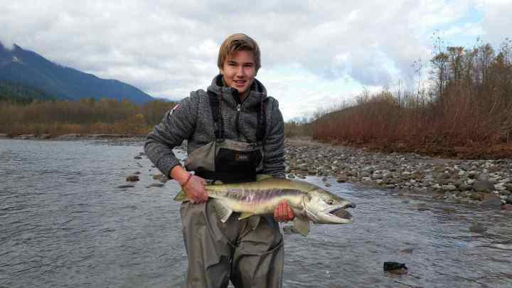 Chum Salmon fly fishing tours in British Columbia