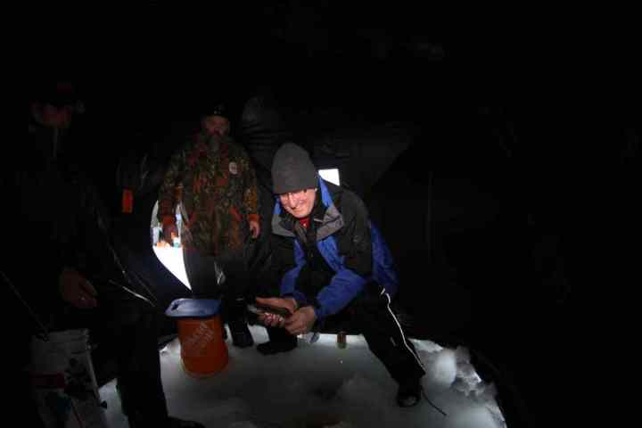 Ice fishing in Whistler is Fun