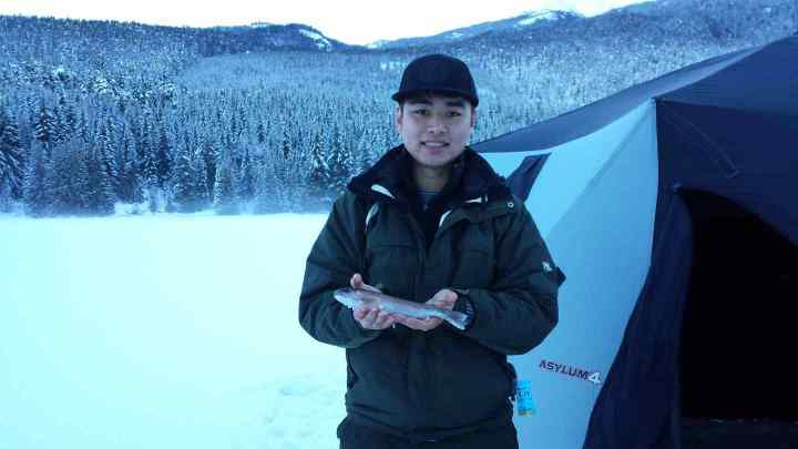 Winter fishing in Whistler BC