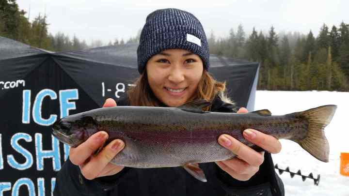 Ice fishing tours for Rainbow Trout in Canada