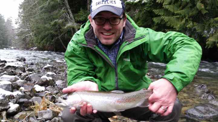 Fly fishing for Rainbow Trout in Whistler British Columbia
