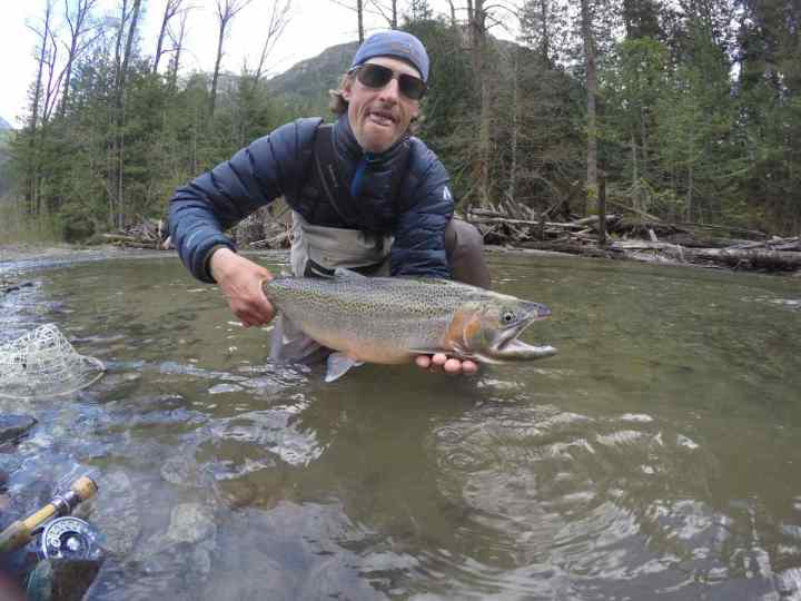 Giant Coastal Cutthroat Trout caught in Pemberton BC