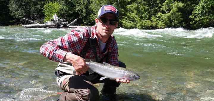 Fly fishing Birkenhead River in Pemberton British Columbia