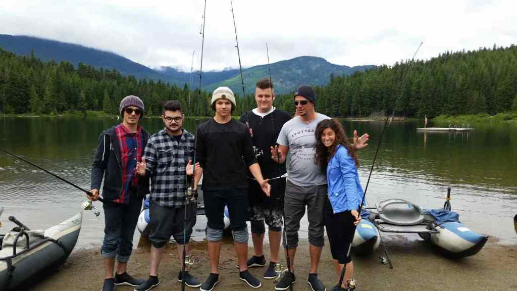 Fishing lost lake Whistler BC