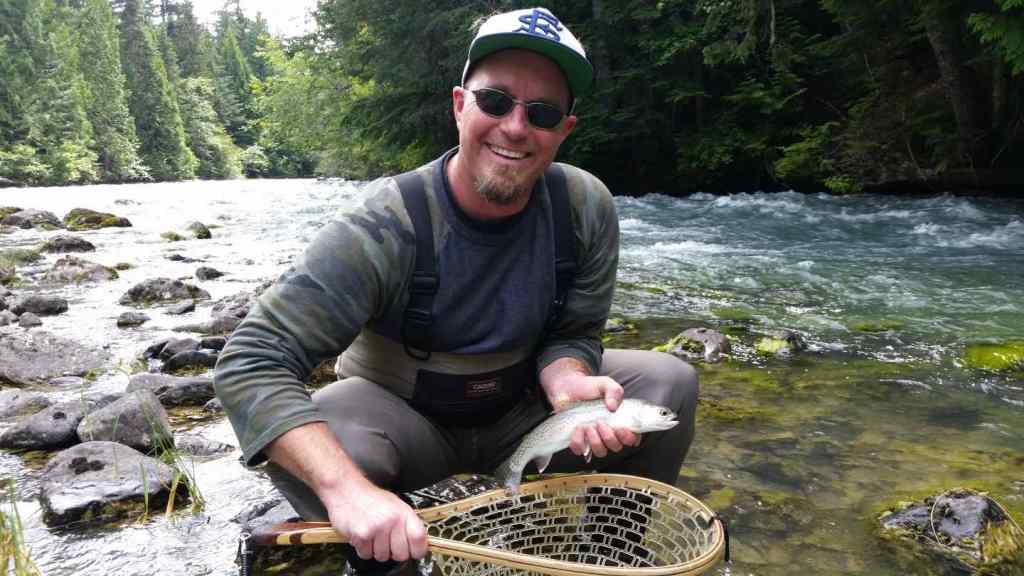 Fly fishing Birkenhead River