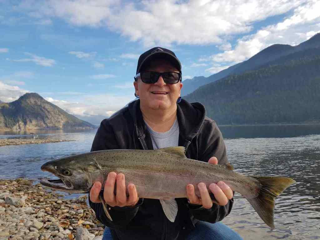 Salmon fishing in Whistler