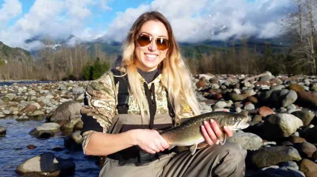 Winter fly fishing in Squamish BC Canada