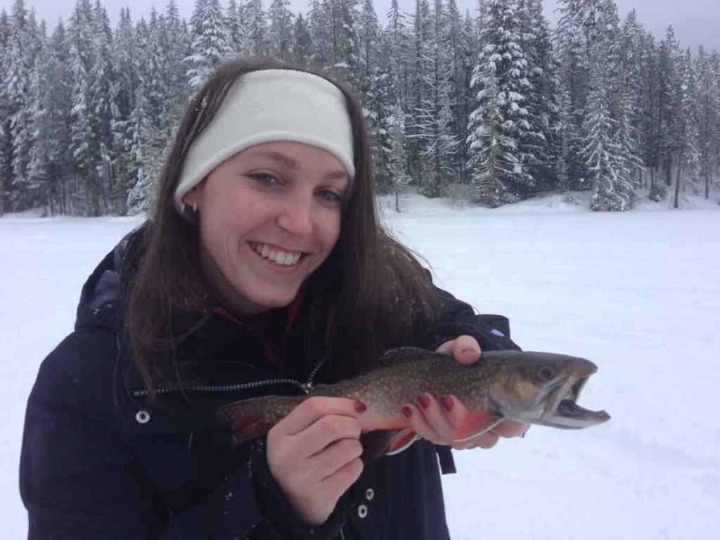 Whistler BC ice fishing