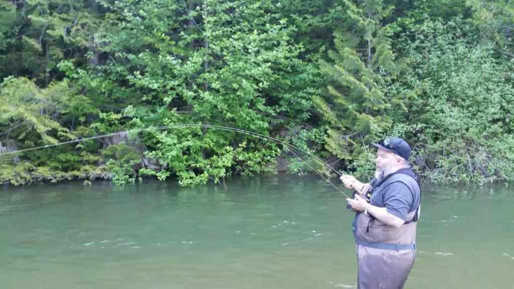 Trout Fly fishing freshwater Streams in British Columbia Canada