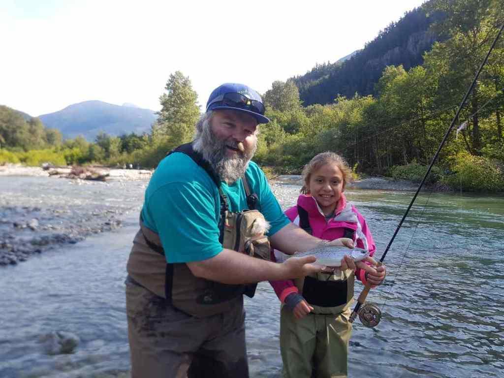 teach kids fly fishing