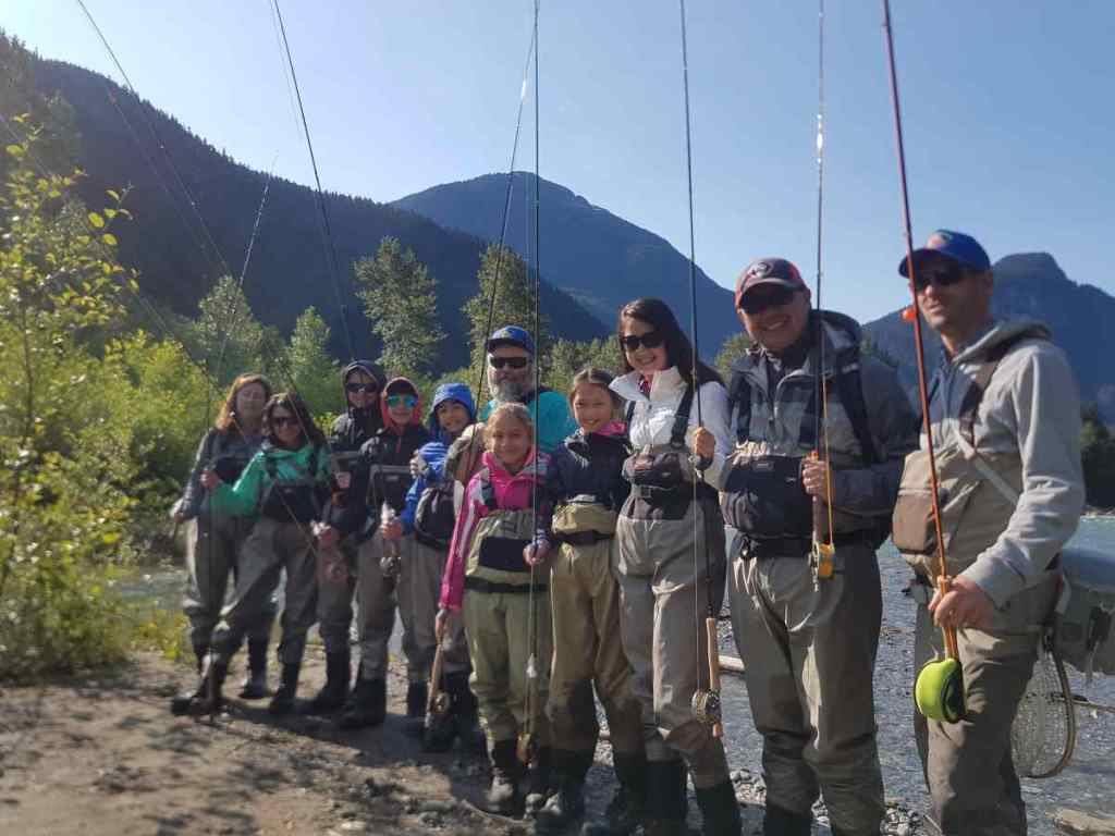 Family fly fishing trips in BC